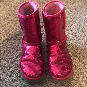 UGG Shoes - Red sequin Ugg boots, size 8.